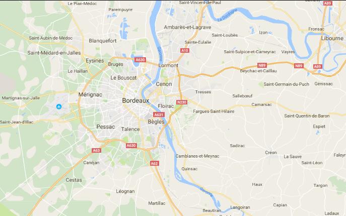 Plombier chauffagiste Bordeaux EURL Megardon zones de déplacement